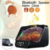 4 In 1 Multifunctional Wireless Charging Mobile Power Bluetooth Speaker Alarm Clock Charger Bluetooth Speaker Clock