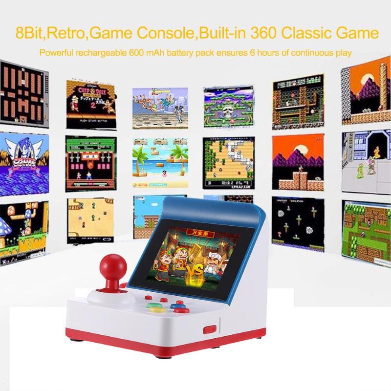 Rétro Mini Console de jeu vidéo 8 bits lecteur de jeu portable pour Console de jeu d'arcade intégré 360 jeux classiques