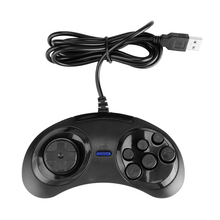 For SEGA USB Classic Gamepad Mini USB Wired Gamepad Joystick 6 Buttons Gaming Joystick Holder for PC MAC Mega Drive Controllers