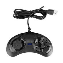 สำหรับ SEGA USB CLASSIC Gamepad Mini USB WIRED Gamepad จอยสติ๊ก 6 ปุ่มเกมจอยสติ๊กสำหรับ PC MAC MEGA DRIVE ตัวควบคุม
