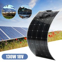 Elfeland EL-11 130W 18V Semi Flexible Solar Panel With Cable For Home RV Boat(China)