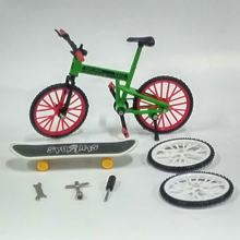 Fun Kids DIY Assembly Mountain Bike Toy with Spare Tire Tools Mini Bicycle Toy Educational Handwork Finger Bike& Skateboard toy(China)