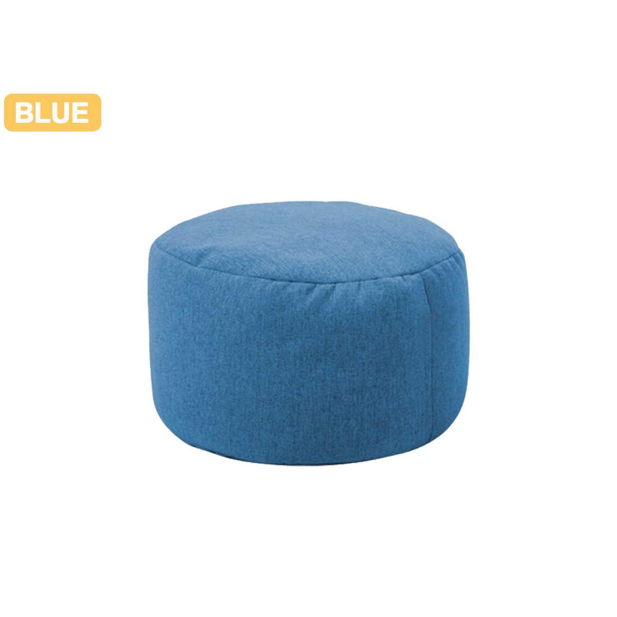 Pequeno Rodada Sofás Beanbag Cobertura Jogo de Cama À Prova D' Água Assento Da Cadeira Cadeira do Saco de Feijão Cadeira Espreguiçadeira Sofá de Linho de Algodão Cor Sólida enseada