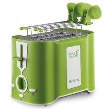 Тостер Ariete 124/12 Tosty цвет зеленый, мощность 760 Ватт, 6 степеней прожаривания, поддон для крошек, подставка для подогрева булочек