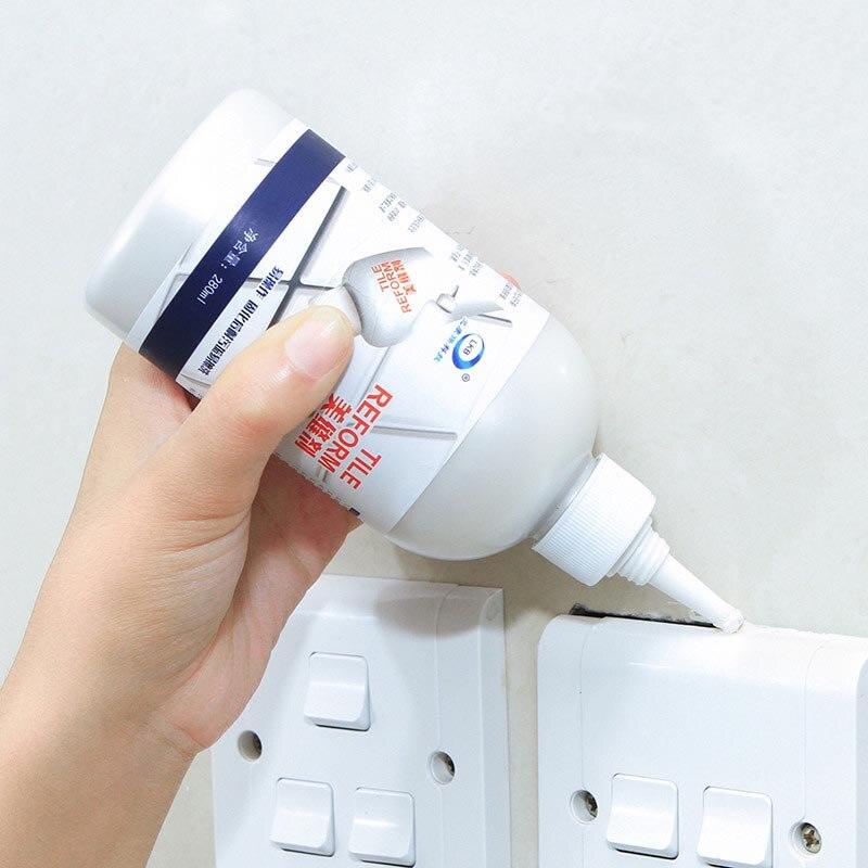 1 botella de 280 ml de recarga agente baldosas epoxi de rejuntado de sellador impermeable de moho a agentes de relleno de la pared de porcelana