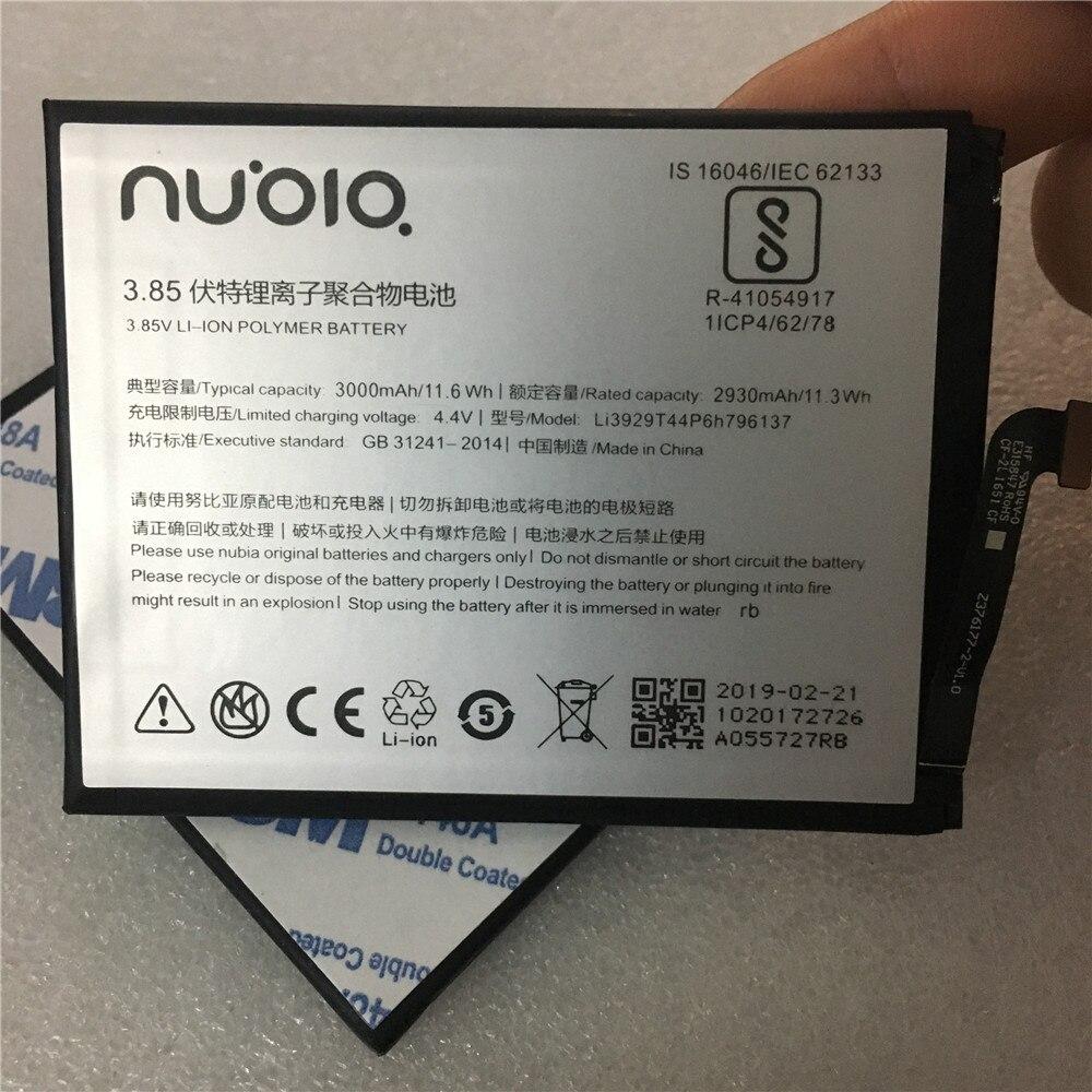 100% Original Li3929T44P6h796137 Battery For ZTE Nubia Z11miniS Z11 miniS NX549J Z17mini Z17 mini NX569H NX569J Battery 3000mAh(China)