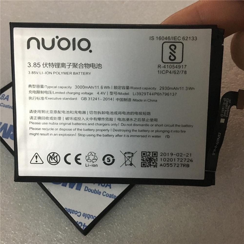 100% Original Li3929T44P6h796137 batería para ZTE Nubia Z11miniS Z11 miniS NX549J Z17mini Z17 mini NX569H NX569J de 3000mAh de la batería