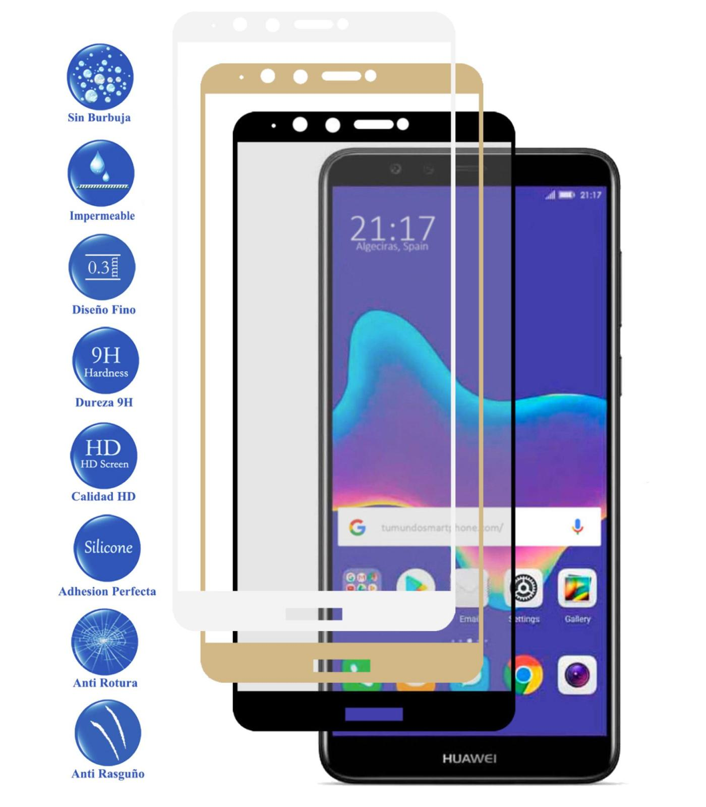 Tempered Glass Protector Full 3D 9 H for Huawei Y9 2018 Choose Color|Phone Screen Protectors| |  - title=