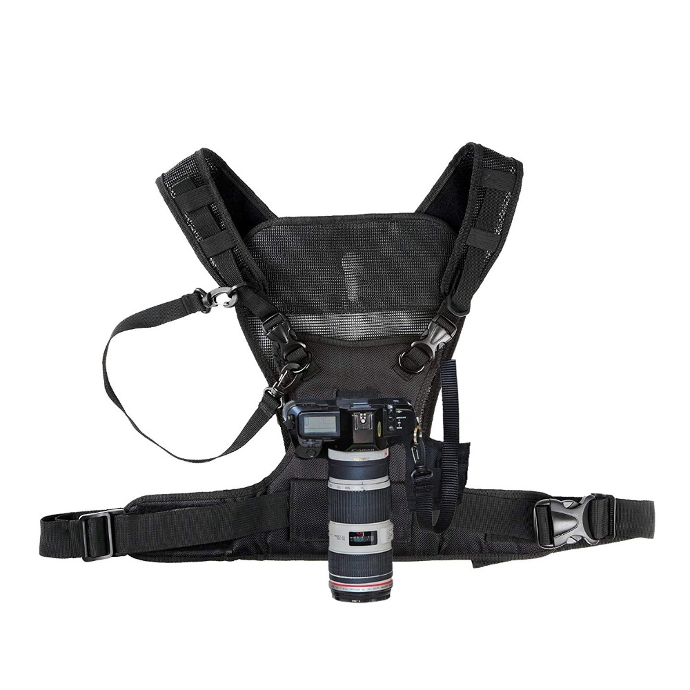 Nicama Cámara llevar el sistema de arnés chaleco rápido correa para DSLR Canon Nikon Pentax Olympus Sony Cámara