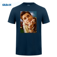 GILDAN AvatarsStore  Great Discount Cotton Men Tee Jim Carrey 1 Mens T shirt Celebrity Star One In The City