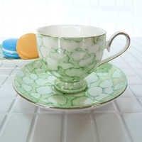 Europe marbling porcelaine thé tasse ensemble 12 pièces 90 ml céramique tasse à café café Drinkware deluxe gris blanc peinture