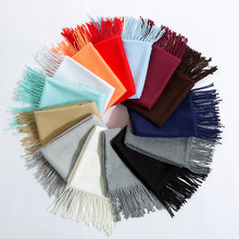 1PC Hot Sale Shawl Cape  Cashmere High Quality Pashmina Tassel Femme Solid Popular Winter Lady Warm Women Scarf