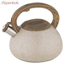 Чайник ALPENKOK AK-522 нержавеющая сталь, со свистком 3,0л индукционное дно