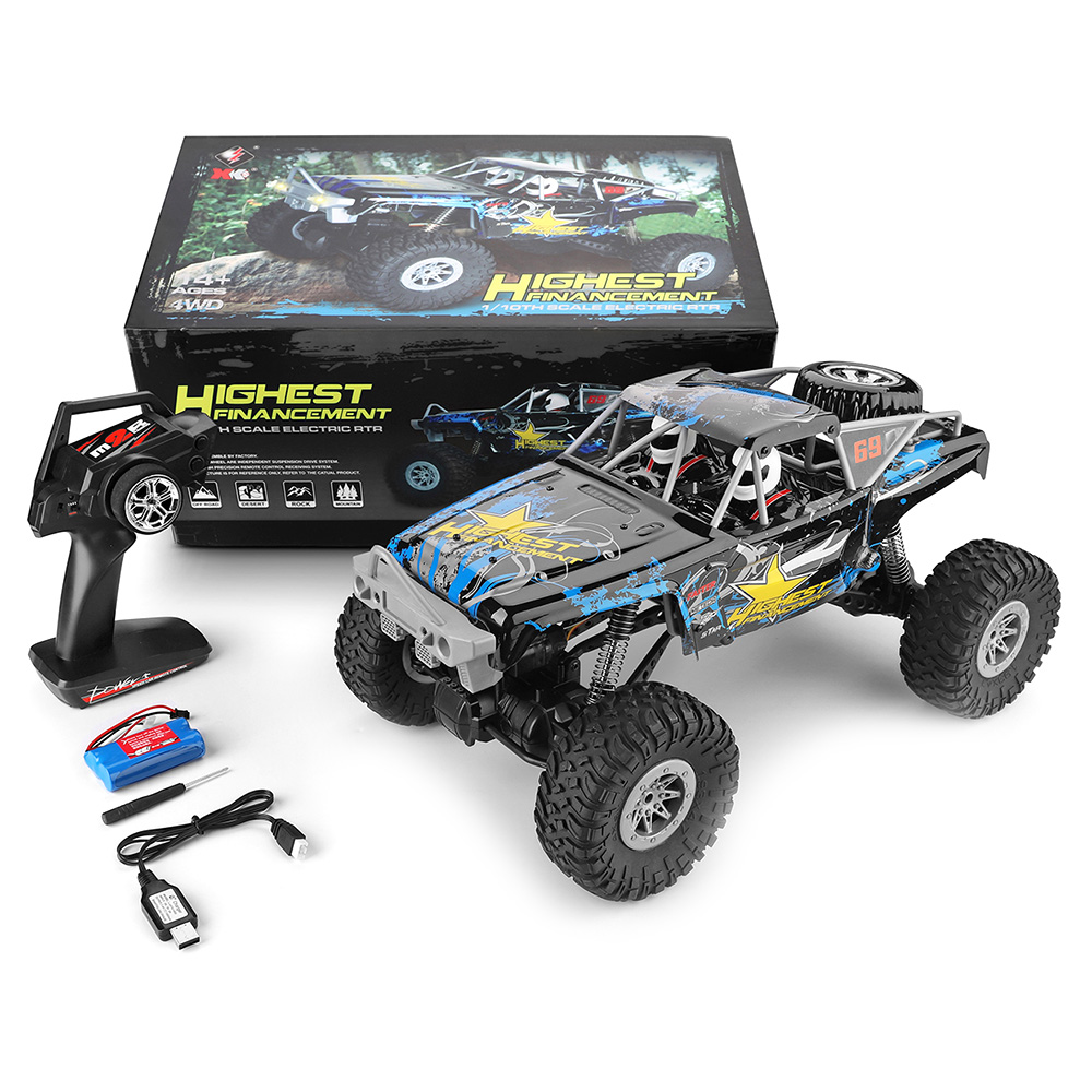 WLtoys 1/10 Electric 4WD Double Bridge Climbing Car Built In High Capacity Lithium Iron Battery With Good Passability