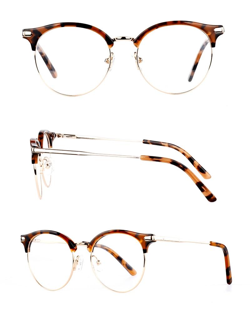 Gläser Braun Klar Frauen c2 Blau Acetat Rahmen Mode Qualität Schwarz Neue Optische Metall Brillen C1 c3 BqSBE7