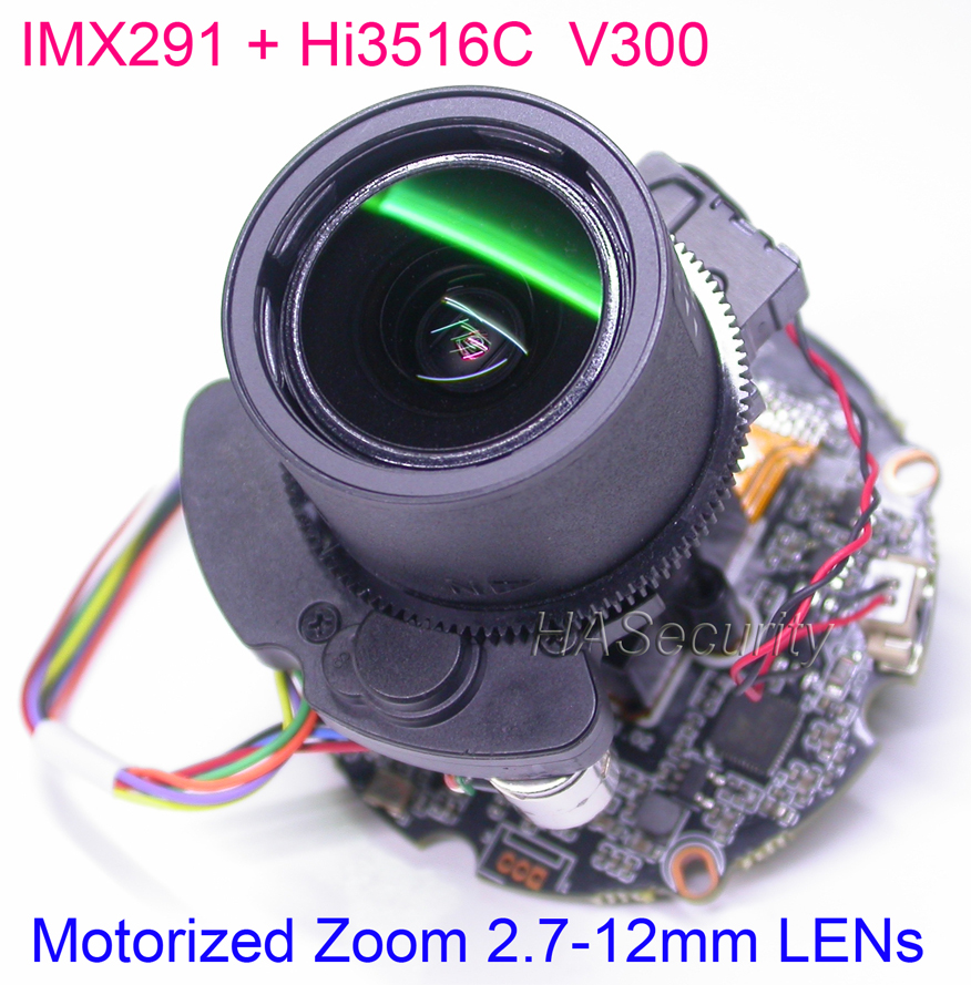 "H.265 H.264 motorized 2.7 12mm Zoom & Auto Focus LENs 1/2.8"" SONY STARVIS IMX291 CMOS Hi3516C CCTV IP camera PCB board module-in Surveillance Cameras from Security & Protection"