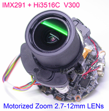 "H.265 H.264 motorized 2.7 12mm Zoom & Auto Focus LENs 1/2.8"" SONY STARVIS IMX291 CMOS Hi3516C CCTV IP camera PCB board module"