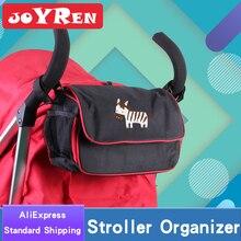 Stroller Organizer by JOYREN Flip top Design 6.5L Storage Space Universal Baby Jogger Stroller Organizer with Cup Holder