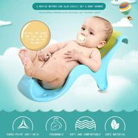 Baby Bath TPE Two Color Soft Newborn Anti Slip Bath Tub Rack Baby Bath Rack Triangular Stability Tilt Angle Scientific Safe