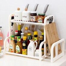 Estante de cocina latas de condimento estante de especias de cocina botellas de condimento pimienta agitadores almacenamiento cuchillo tenedor organizador