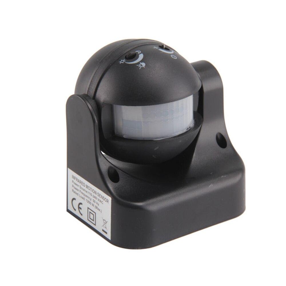 180 Degree Auto PIR Motion Sensor Detector Switch White / Black 220V/AC-240V/AC Security Lighting Lamp Switch For Garden Outdoor