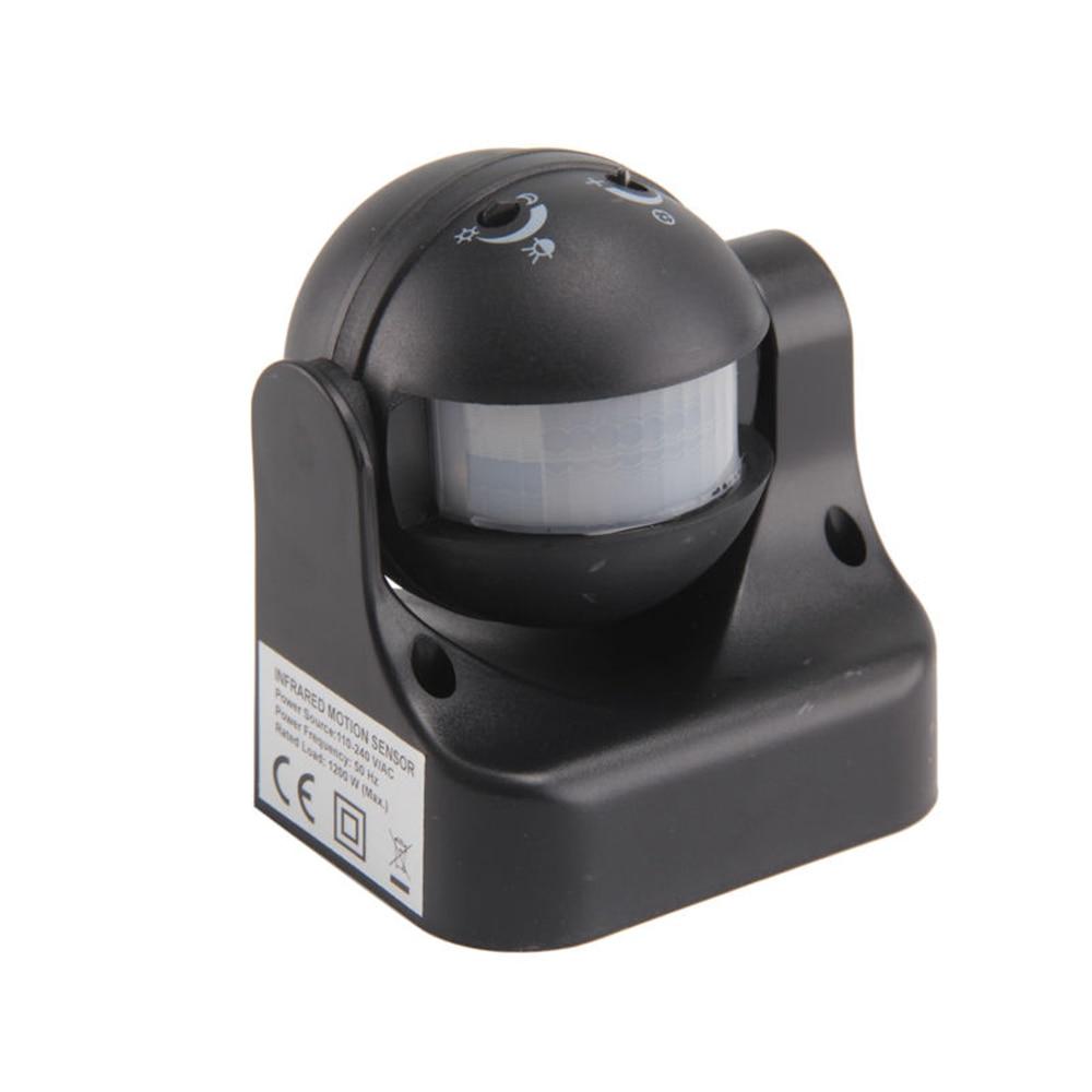 180 grad Auto PIR Motion Sensor Detektor Schalter weiß/schwarz 220 V/AC-240V/AC Sicherheit Beleuchtung Lampe schalter für Garten Im Freien