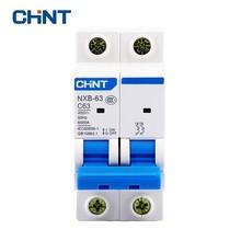 CHINT CHNT Miniature Circuit Breaker NXB-63 2P 1A 2A 3A 4A 6A 10A 16A 20A 25A 32A 40A 63A 400V 50HZ Air Switch MCB New DZ47 цены онлайн