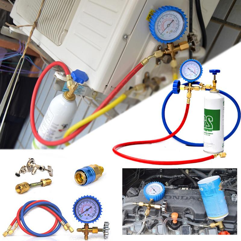 NEW Style R22 Refrigerant Household Car Air Conditioning Fluoride Adding Tool Kit Freon Common Cool Gas Meter-in Air-conditioning Installation from Automobiles & Motorcycles