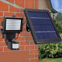 Garden Powered Lamp Light Outdoor 6W Solar Camping Sensor 3 IP65 Lighting LED Wall Courtyard Outdoor 7V Waterproof Black