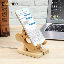 CASEIER 100% Pine Wood Laptop Stand For Mac Air / Pro MacBook Notebook Wooden Holder For iPhone 7 8 Plus X For Samsung S9 Plus hot sale original samdi heat dissipation elegant wooden stand for macbook air pro wood laptop lapdesks holder bracket for laptop