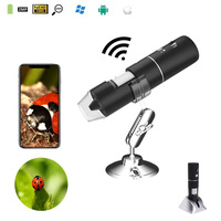 2MP Full HD 1080P WIFI Digital 1000x Microscope Magnifier Camera for ios Android Rechargeable Lithium battery With 8 LED lights