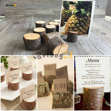 10pcs Rustic Table Numbers Rack Wooden Wedding Decoration Signs Place Cards Party on The Number Holder Supplies