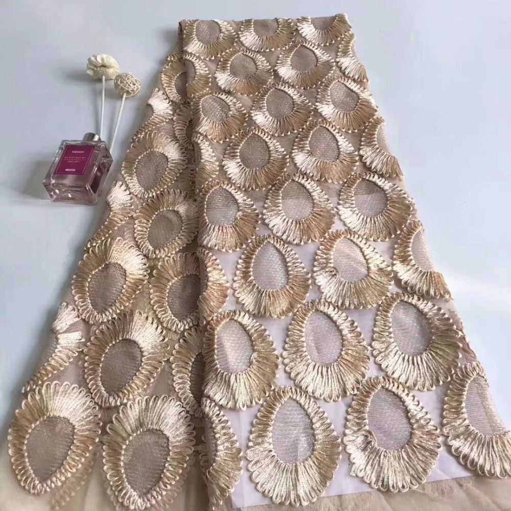 Beautiful Mesh Lace Fabric High Quality Embroidered Fabrics Fashionable 3d Lace Fabric For Wedding Dresses Tull Lace 3D-in Lace from Home & Garden    3