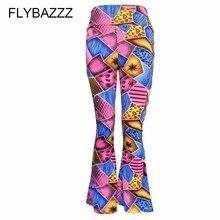 Women Autumn Print Streetwear Yoga Pants High Waist Wide Leg Pants Club Wear Skinny Stretchy Trousers Female Plus Size Trousers active women s high waist skull print skinny yoga pants