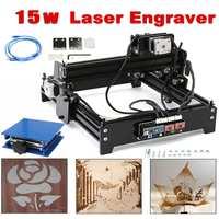 15W 15000mW Mini Laser Engraving Machine Metal Steel Iron Stone Engraver Image Printer