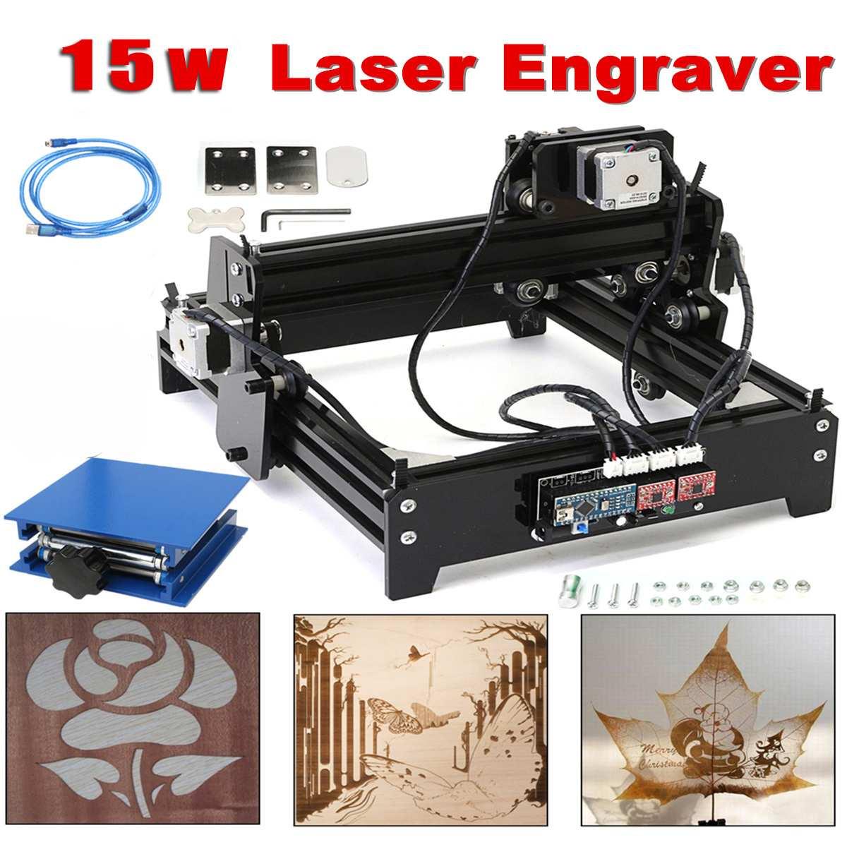 15 W 15000 mW Mini Machine de gravure Laser en métal en acier fer pierre graveur Image imprimante