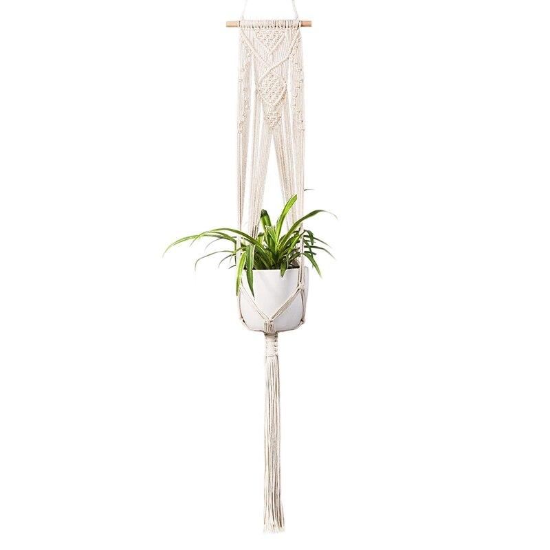 Afbc Macrame Plant Hanger-handgemaakte Indoor Muur Opknoping Planter Plant Holder, Moderne Boho Thuis Patio Tuin Decor Meer Kortingen Verrassingen