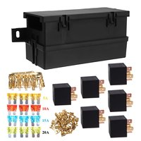 Auto Car Part 6 way 6 Relays w/ Relay Box 12 Blade Fuses Waterproof for cars automotive marine boats
