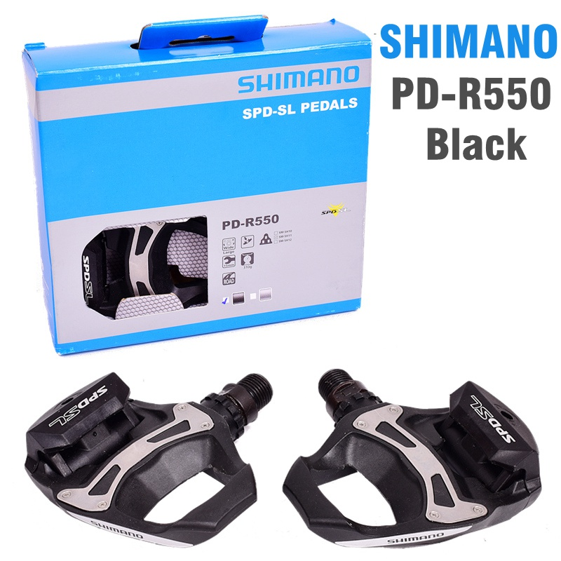 SHIMANO R550 route pédales de vélo SPD-SL Auto-Verrouillage SPD Pédales Composants En Utilisant pour Vélo Racing PD-R550 PD-R540 Pédales