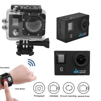 G53DR 2.4G Wifi Sports Action Camera 4K Ultra HD 1080P Waterproof WIFI Camera 0.66inch+2.0inch LCD Double Screen Cam Sets cámara 4k ultra hd