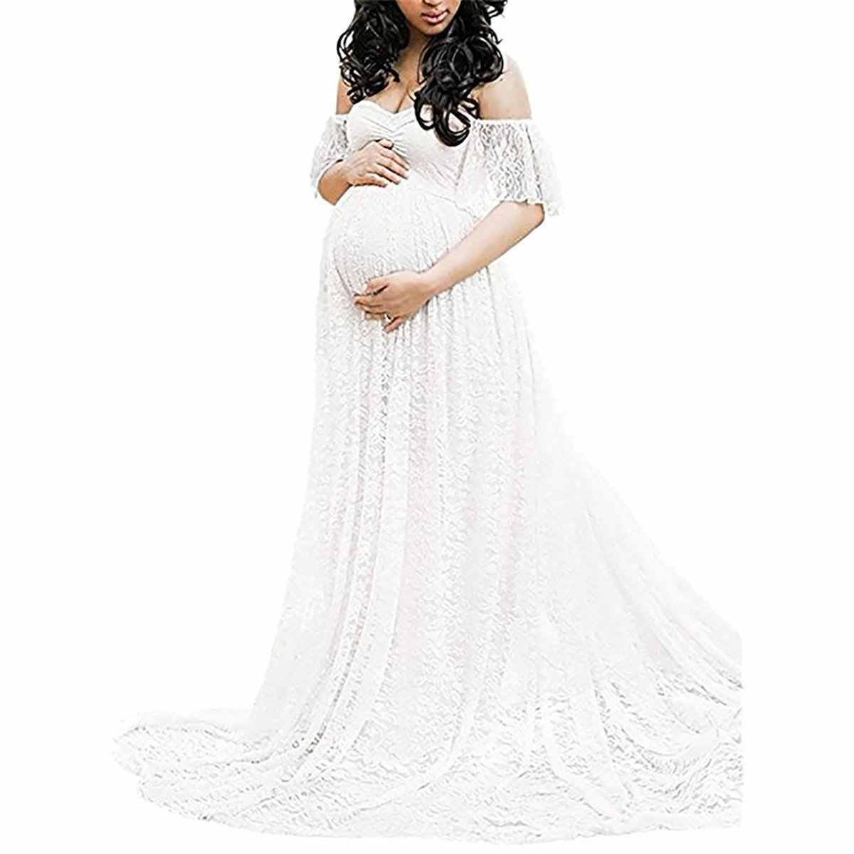 89f83efc00a6 ... Envsoll Maternità Fotografia Puntelli del Vestito Gravidanza Fotografia  Maternità Abiti Per Il Servizio Fotografico Wq14 Incinte ...