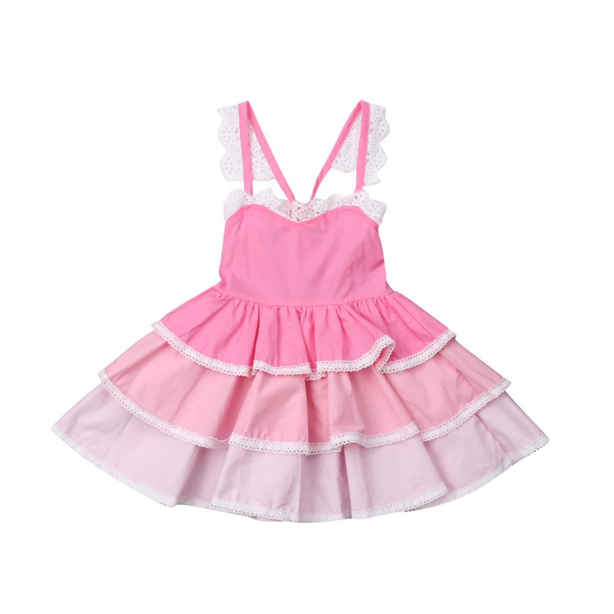 b235d20ec70 Detail Feedback Questions about Fashion Toddler Girl Kid Summer Vintage Lace  Dress Solid Bandage Party Wedding Flower Girl Princess Dress on  Aliexpress.com ...