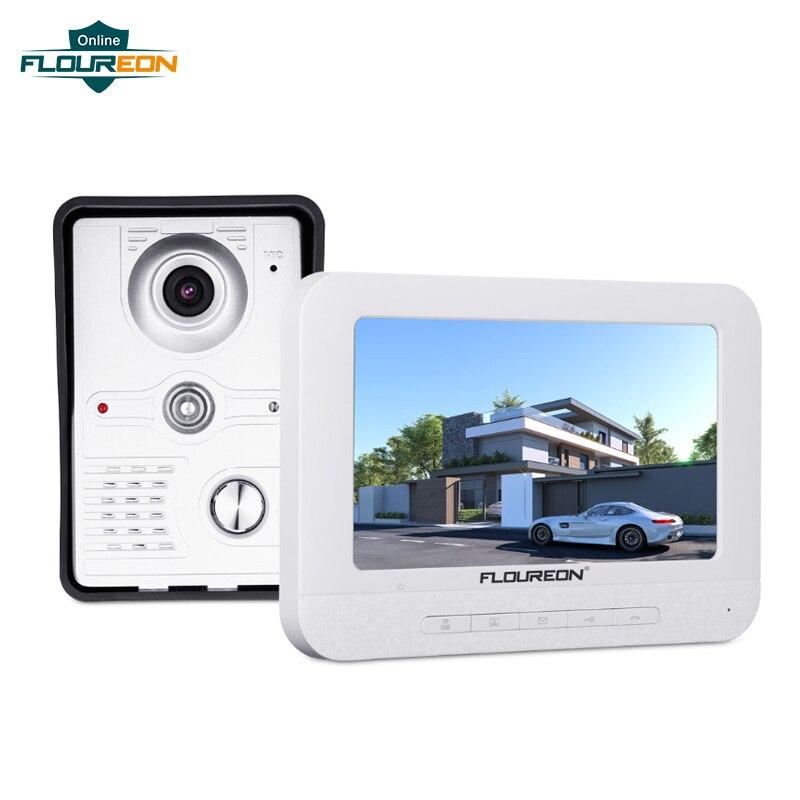 Interphone vidéo porte d'entrée 7 pouces filaire TFT LCD affichage vidéo sonnette Interphone système de sécurité à domicile porte Dzwonek Do Drzwi