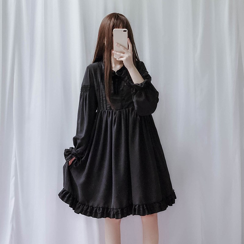 Harajuku Street Fashion Cosplay Female Dress Japanese Soft Sister Gothic Style Dress Lolita Cute Girl Dress in Dresses from Women 39 s Clothing
