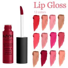 12 Colors Professional Matte Liquid Lipstick Lip Gloss Waterproof Long-lasting Charming Sexy Color Easy to Wear for Daily Makeup