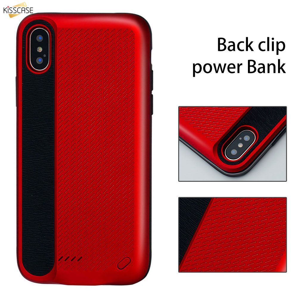 KISSCASE 3000 MAH Battery Charger Case For iPhone X External Power Bank Charging Funda