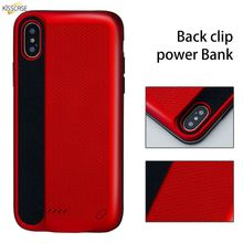 KISSCASE 3000 MAH Battery Charger Case For iPhone X External Power Bank Charger Case For iPhone X Power Bank Charging Case Funda аккумулятор red line r 3000 power bank 3000mah black ут000008703