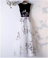2019 Solid black Elegant long Party Dresses A Line V neck Women Formal Satin Dress Banquet Clothing Vestidos