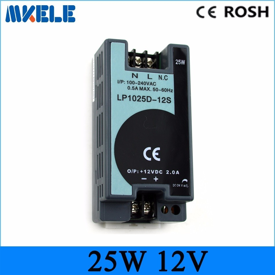 Free Shipping Ac-dc Power Supply 25w 12v 2.1A Din Rail Switching Power Supply Led Driver 12 Volt Power Supply Lp-25-12