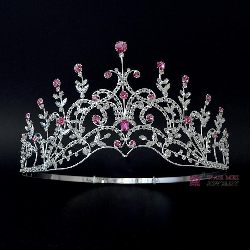 Tiaras Crowns For Pageant Bridal Wedding Princess Queen Australian Rhinestone Crystal Miss Beauty Crown Hairwear Jewelry 00012